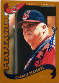 Charlie Manuel Autographed 2002 Topps #301