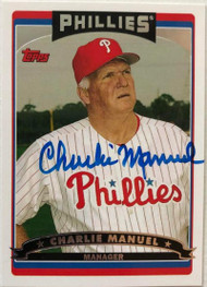 Charlie Manuel Autographed 2006 Topps #286