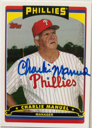 Charlie Manuel Autographed 2006 Topps Fan Appreciation Day SGA #26