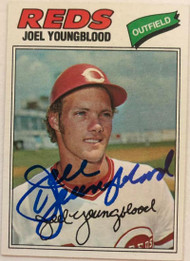 Joel Youngblood Autographed 1977 Topps #548