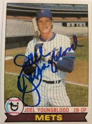 Joel Youngblood Autographed 1979 Topps #109