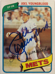 Joel Youngblood Autographed 1980 Topps #372