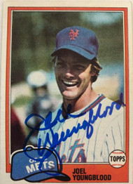 Joel Youngblood Autographed 1981 Topps #58
