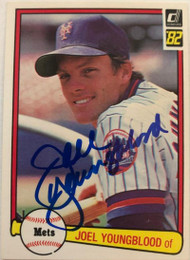 Joel Youngblood Autographed 1982 Donruss #613