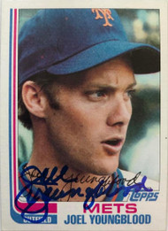 Joel Youngblood Autographed 1982 Topps #655
