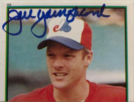 Joel Youngblood Autographed 1983 Topps Stickers #143