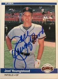 Joel Youngblood Autographed 1984 Fleer #387