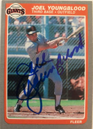 Joel Youngblood Autographed 1985 Fleer #625