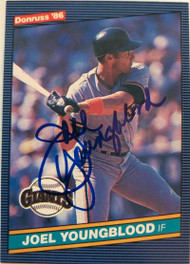 Joel Youngblood Autographed 1986 Donruss #567