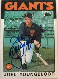 Joel Youngblood Autographed 1986 Topps #177