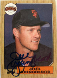 Joel Youngblood Autographed 1987 Topps #759