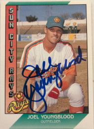 Joel Youngblood Autographed 1991 Pacific Senior League #131