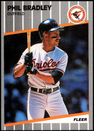 1989 Fleer Update #U-1 Phil Bradley NM-MT Baltimore Orioles