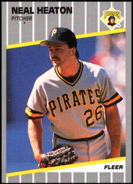 1989 Fleer Update #U-113 Neal Heaton NM-MT Pittsburgh Pirates