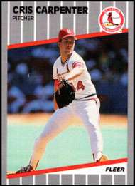 1989 Fleer Update #U-117 Cris Carpenter NM-MT RC Rookie St. Louis Cardinals