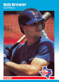 1987 Fleer Update #U-10 Bob Brower NM-MT Texas Rangers