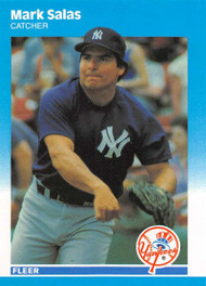 1987 Fleer Update #U-106 Mark Salas NM-MT New York Yankees