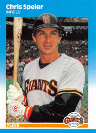 1987 Fleer Update #U-112 Chris Speier NM-MT San Francisco Giants