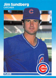 1987 Fleer Update #U-114 Jim Sundberg NM-MT Chicago Cubs