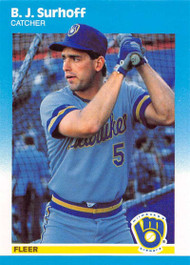 1987 Fleer Update #U-115 B.J. Surhoff NM-MT Milwaukee Brewers