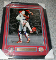1993 Phillies Celebration Framed 16 x 20 Signed by All 26 Players