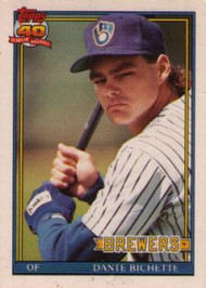 1991 Topps Traded #10T Dante Bichette NM-MT Milwaukee Brewers