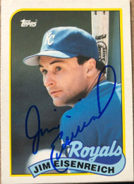 Jim Eisenreich Autographed 1989 Topps Traded #28T
