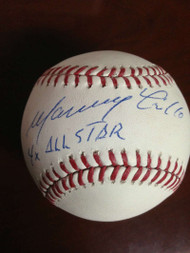 Manny Trillo Autographed ROMLB Baseball 4 X All - Star