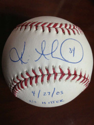 Kevin Millwood Autographed ROMLB Baseball No Hitter 4/27/03