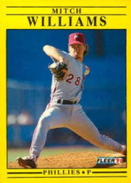 1991 Fleer Update #U110 Mitch Williams NM-MT Philadelphia Phillies