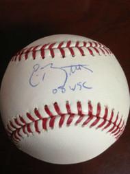 Eric Bruntlett Autographed ROMLB Baseball 08 WSC