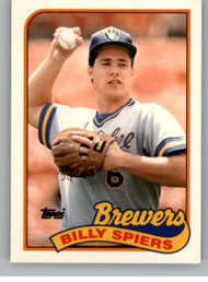 1989 Topps Traded #115T Bill Spiers NM-MT RC Rookie Milwaukee Brewers