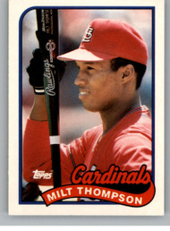 1989 Topps Traded #118T Milt Thompson NM-MT St. Louis Cardinals