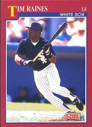 1991 Score Rookie and Traded #10T Tim Raines NM-MT Chicago White Sox