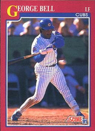 1991 Score Rookie and Traded #13T George Bell NM-MT Chicago Cubs