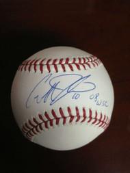 SOLD 776 Geoff Jenkins Autographed ROMLB Baseball 08 WSC