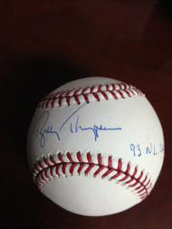 Bobby Thigpen Autographed ROMLB Baseball 1993 NL Champs