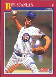 1991 Score Rookie and Traded #102T Bob Scanlan NM-MT RC Rookie Chicago Cubs