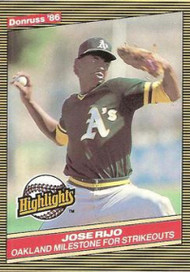 1986 Donruss Highlights #2 Jose Rijo NM-MT Oakland Athletics