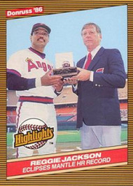 1986 Donruss Highlights #10 Reggie Jackson NM-MT California Angels