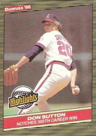 1986 Donruss Highlights #16 Don Sutton NM-MT California Angels