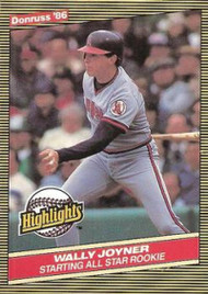 1986 Donruss Highlights #23 Wally Joyner NM-MT California Angels