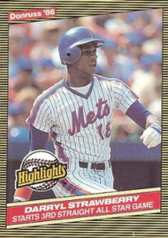 1986 Donruss Highlights #24 Darryl Strawberry NM-MT New York Mets