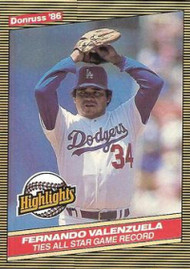 1986 Donruss Highlights #25 Fernando Valenzuela NM-MT Los Angeles Dodgers