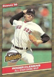 1986 Donruss Highlights #26 Roger Clemens NM-MT Boston Red Sox