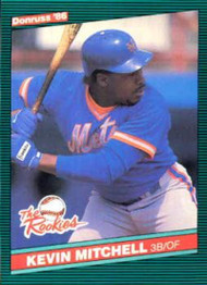 1986 Donruss Rookies #17 Kevin Mitchell NM-MT RC Rookie New York Mets