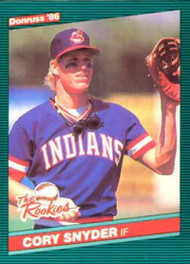 1986 Donruss Rookies #15 Cory Snyder NM-MT Cleveland Indians
