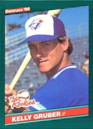 1986 Donruss Rookies #16 Kelly Gruber NM-MT Toronto Blue Jays