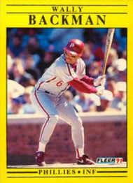 1991 Fleer Update #U106 Wally Backman NM-MT Philadelphia Phillies