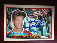 SOLD 813 Mickey Morandini Autographed 1988 Topps Big #162